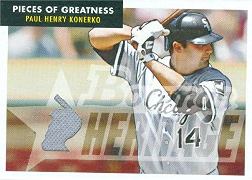 Autograph Warehouse 343266 Paul Konerko Baseball Card Player Worn Jersey Patch - Chicago White Sox 2007 Bowman Heritage No. PG-PK2