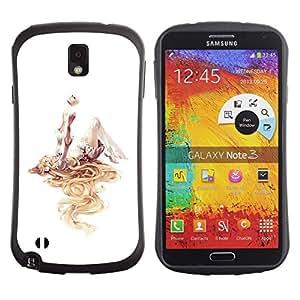Suave TPU GEL Carcasa Funda Silicona Blando Estuche Caso de protección (para) Samsung Note 3 / CECELL Phone case / / Girl Deep Abstract Art Watercolor White /