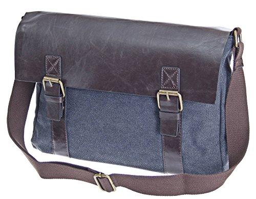 AKTIONSWARE & SONDERPOSTEN Arbeitstasche Schultertasche Flugbegleiter Umhängetasche Business Messenger Bag Tasche (Rot) Schwarz 2cZNm