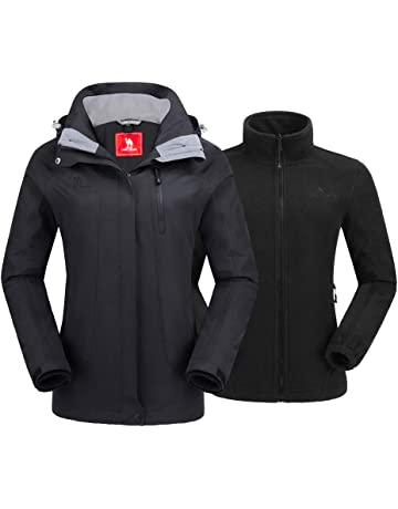 9a00e8e512e6a0 CAMEL CROWN Women's Ski Jacket Winter Jacket Waterproof 3 in 1 Mountain  Coat Windproof Hooded with