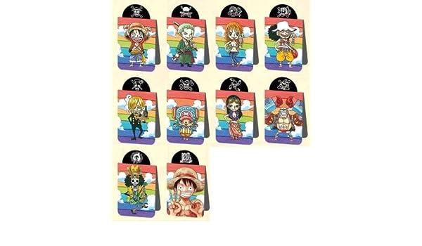 Amazon.com: One Piece Magnet Clip x10 Luffy Zoro Sanji Nami ...