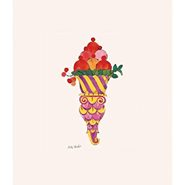Posters: Andy Warhol Poster Art Print - Ice Cream Dessert, C.1959 (Fancy Red) (14 x 11 inches)