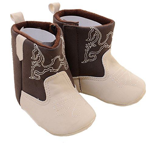 Embroidered Infant Baby Fashion Winter Cowgirl Boots (3) (Cheap Cowgirl Boots Under 20)