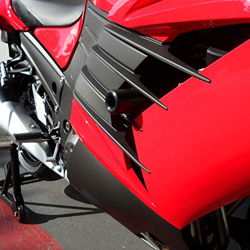 - Shogun 2012 To 2019 Kawasaki ZX14R ZX14 ZX 14 Black Complete No Cut Frame Slider Kit Includes No Cut Frame Sliders Swing Arm Spools and Bar Ends - 755-4719 - MADE IN THE USA