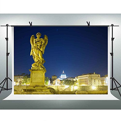 7x5ft Washington Night View Backdrop Photography Statue Wing Light Background for Photographers YouTube Backdrop Photo Booth Studio Props XCFH333