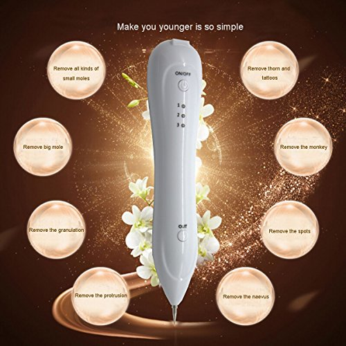 VOOA-Dot-Mole-Removal-Pen-Mole-Remover-Pen-Mole-Eraser-Plasma-Pen-Spot-Mole-Tattoo-Removal-Pen-for-Skin-Tag-Nevus-Freckles-Dark-Spot-Birth-Mark-Skin-Pigmentation-Age-Spots-USB-Charging-No-Bleeding