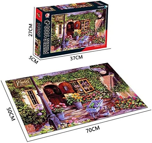 UHvEZ 1000pcs_Techo de Invierno de LondresRompecabezas de Madera decoración del hogar Moderno Juego de Conocimiento_50x75cmSin Marco