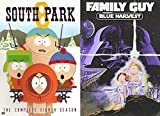 Lights Go Out Star Party Animated DVD & South Park kids and their shenanigans Stan, Kyle, Kenny & Cartman + Family Guy Blue Harvest Wars