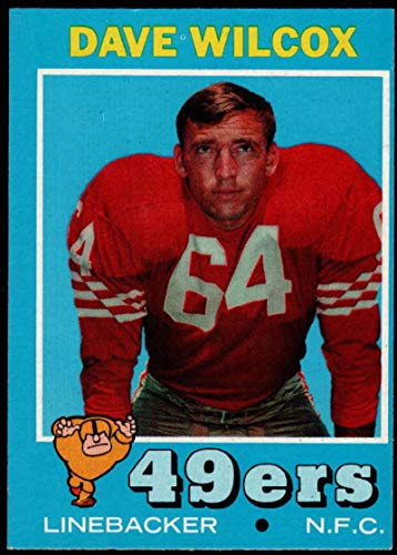 Football NFL 1971 Topps #189 Dave Wilcox 49ers