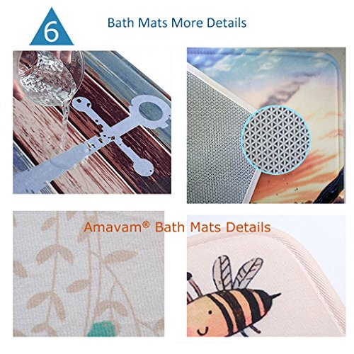 Unique Custom Bathroom 2-Piece Set Various School Supplies On White Background Shower Curtains And Bath Mats Set, 71''Wx71''H & 31''Wx20''H by Amavam (Image #6)