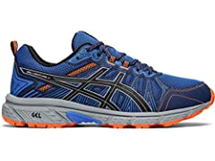 Take on the toughest terrain in confidence with the men's GEL-VENTURE 7 performance trail running shoe by ASICS. Featuring GEL technology and an EVA midsole, this shoe is made for athletes who love to run in the great outdoors.GEL technology ...