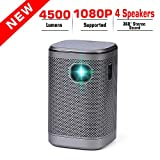 Projector 4500 Lumens DLP 1080P Supported Video Projector Sound Speaker 200