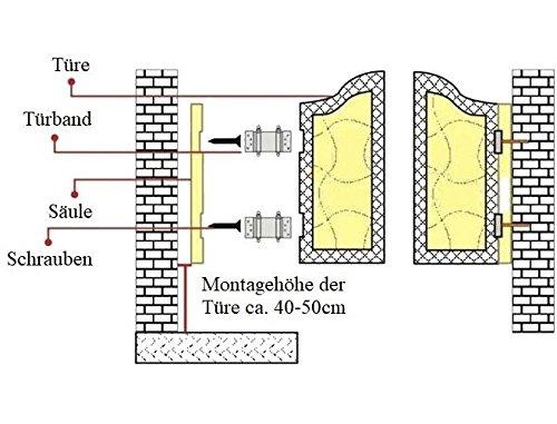 2x Edelstahl 150mm Single Pendelt/ürscharnier Pendelt/ürband Schwingt/üre T/ürscharnier Scharnier