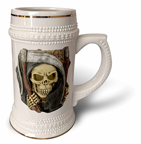 Blonde Designs Happy and Haunted Halloween - Halloween Scary Grim Reaper - 22oz Stein Mug (Scary Halloween Coffee Mugs)