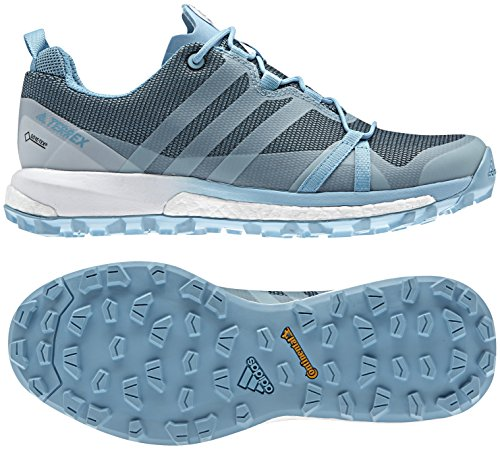 adidas outdoor Women's Terrex Agravic GTX Vapour Blue/Clear Aqua/White Athletic Shoe by adidas