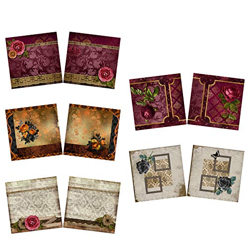Scrapbooking Heritage - Roses NPM - Heritage - Scrapbook Set - 5 Double Page Layouts