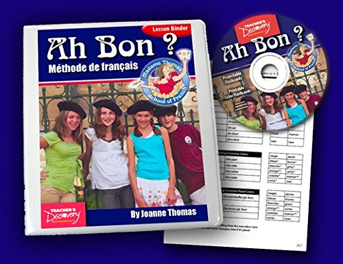Ah Bon? Madame Thomas School of French Lesson Binder & Flashcards on CD by Teacher's Discovery