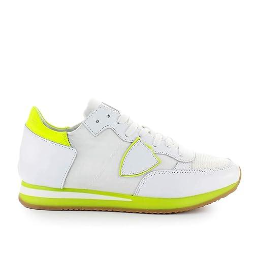 36427e031c Philippe Model Scarpe da Donna Sneaker Tropez Mondial Bianco Giallo ...