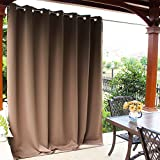 NICETOWN Outdoor Curtain Panel for Patio - Vertical Blinds Thermal Insulated Grommet Top Blackout Slider Curtain/Drape for Outside Pavilion/Lounge (Tan, Single Panel, 100 x 84-Inch): more info