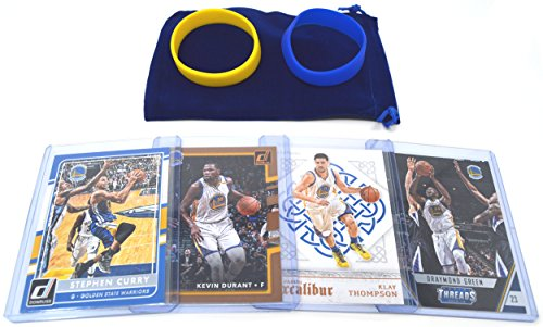 - Golden State Warriors Cards (5): Stephen Curry, Kevin Durant, Klay Thompson, Draymond Green, DeMarcus Cousins ASSORTED Trading Cards and Wristbands Bundle