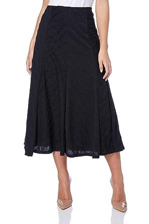 9f78e215e91 Roman Originals Women s Textured Panel A-Line Midi Calf Length Skirt -  Ladies Classic Style