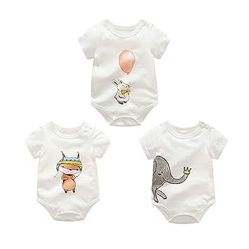 Rabbit Bear Organic 100/% Cotton Infant 3 Pack Bodysuit Size 6-9 Months