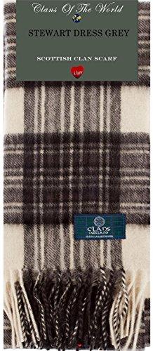 Stewart Dress Modern Tartan Clan Scarf 100% Soft Lambswool