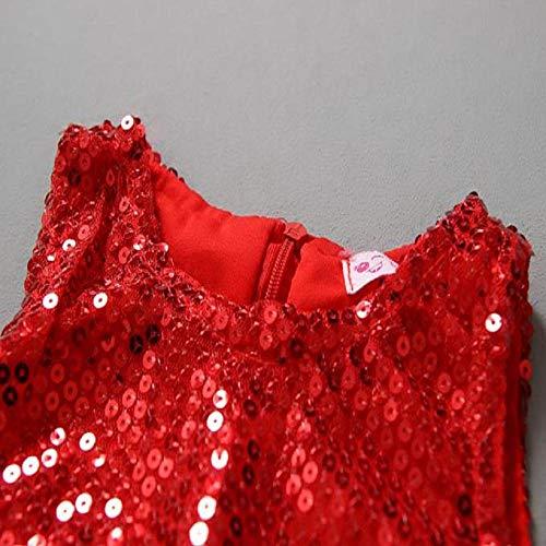 b4792eb71d4de 子供ドレス ワンピース Timsa クリスマス仮装 ドレス 子供服 女の子 サンタクロース 赤色 スパンコール キラキラ 綿製品