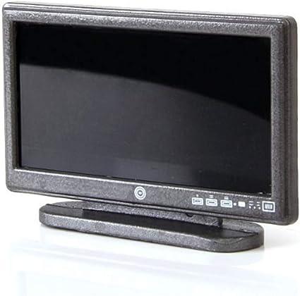 Amazon.es: Miniatura LCD TV Dollhouse Televisor De Pantalla Ancha Para La Casa De Muñecas De La Sala Decoración Del Dollhouse Accesorios Gris: Juguetes y juegos