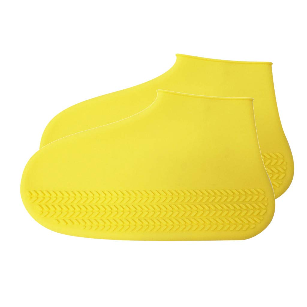 Suitable for 35-39 EU Shoe Size Juner Silicone Waterproof Outdoor Shoe Covers,Durable Reusable 24.5cm//9.6in Rainproof Hiking Skid-Proof Shoe Covers