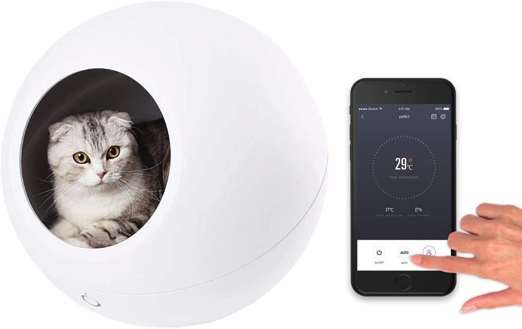 Home or Bed Instachew for Cats and Small Dogs PETKIT Cozy Gen 2 Smart Pet House WiFi APP Enabled with Heating and Cooling Control Cave
