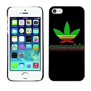 - Marijuana Kush Weed - - Monedero pared Design Premium cuero del tir¨®n magn¨¦tico delgado del caso de la cubierta pata de ca FOR Apple iPhone 5 5S Funny House