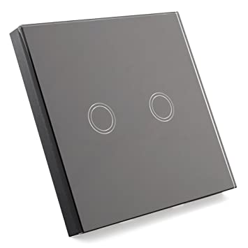 Touchscreen schalter - SODIAL(R)Lichtschalter mit Fernbedienung Glas ...