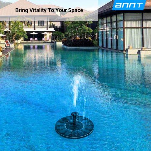 Solar Power Floating Water Fountain Garden Pump Pond Tank Pool Shower Bird Bath