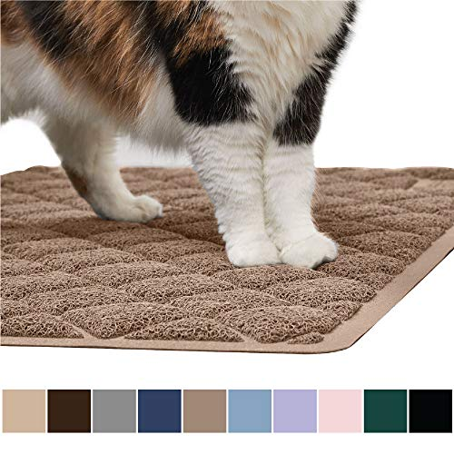 (Gorilla Grip Original Premium Durable Cat Litter Mat (35x23), XL Jumbo, No Phthalate, Water Resistant, Traps Litter from Box and Cats, Scatter Control, Soft on Kitty Paws, Easy Clean Mats (Mocha))