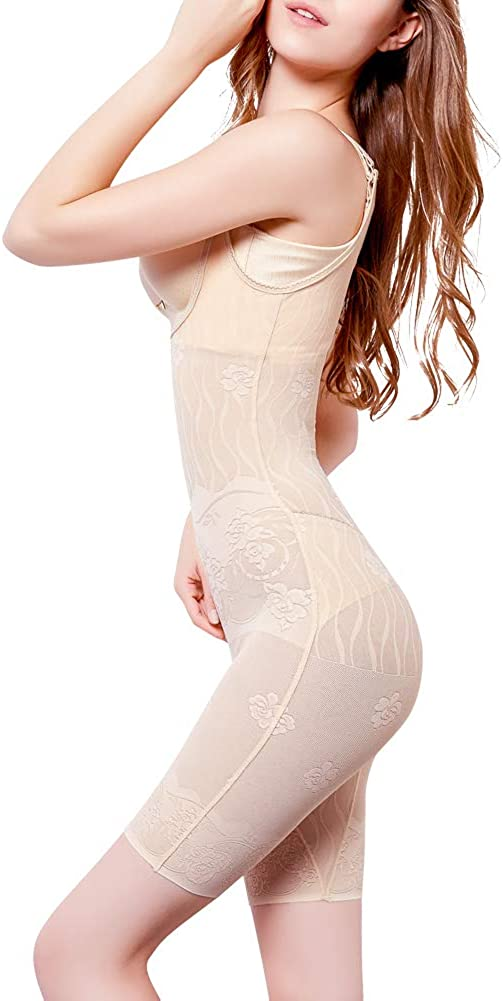Amazingjoys Womens Open Bust Bodysuit Seamless Body Shaper Tummy Control Shapewear