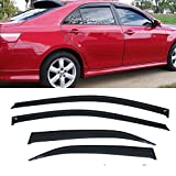 toyota camry rain - Mifeier For 07-11 Toyota Camry 4 Door Sedan JDM Sun Rain Guard Vent Shade Window Visor Wind Deflector 4pc
