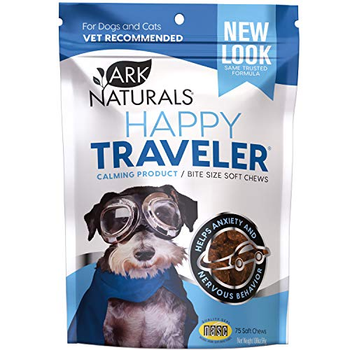 Ark Naturals Happy Traveler, Natural Calming Treats for Dogs and Cats, Reduces Anxious and Nervous Behavior