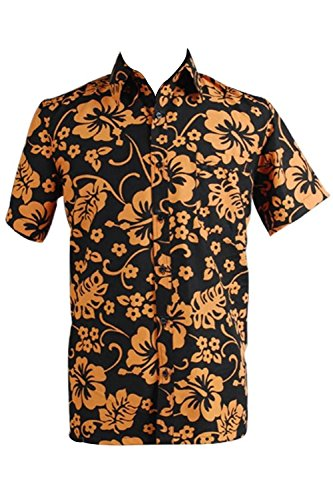 Casual Aloha Shirt Fear and Loathing in Las Vegas Raoul Duke Cosplay Costume Cotton (Medium) Yellow ()