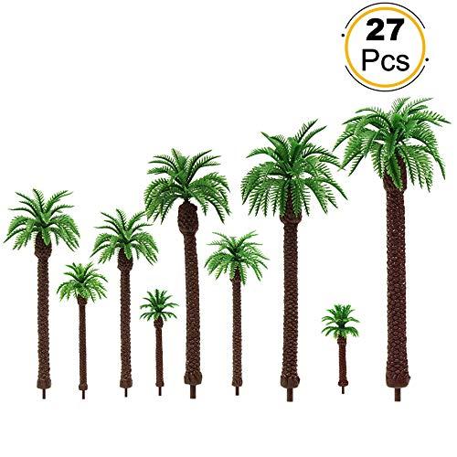 YS01 27 PCs Model Palm Coconut Trees 2.8