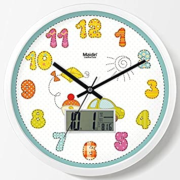 YANXUEPING Lindo Color Digital Alquiler de Reloj de Pared, Reloj Calendario, Reloj, Reloj