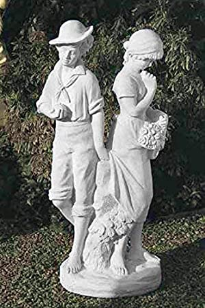 pompidu-living Enamorados Par, Figuras Piedra, Figura de Jardín - Terracota: Amazon.es: Jardín