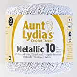 Coats Crochet Metallic Crochet Thread, 10, Silver