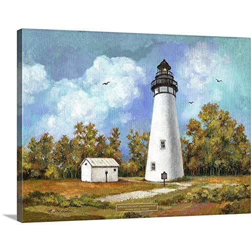 - GREATBIGCANVAS Gallery-Wrapped Canvas Entitled Amelia Island Lighthouse by Betty Whiteaker 40