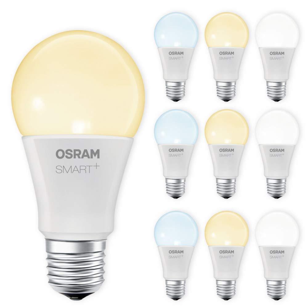 OSRAM SMART+ LED E27 Lampe Tunable Weiß dimmbar Lightify Echo Alexa kompatibel Auswahl 10er Set