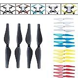 Drone Repair Parts - DJI/Ryze Tech Tello Accesssories 20pcs 5 color Quick-Release Propellers Props (4pcs Black, 4pcs White, 4pcs Red, 4pcs Yellow, 4pcs Blue)