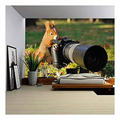 Amazing Creative Design, Squirrel as a Photographer with Big Professional Camera, That's 100% USA Made