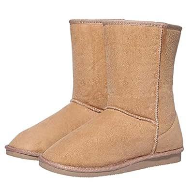 Amazon.com | Women's Winter Snow Boots Warm Short Suede