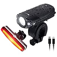 NearMoon USB Rechargeable Bike Taillight, Quick Release Bicycle Light, Super Bright Waterproof Red Rear Light with Emergency Flashlight