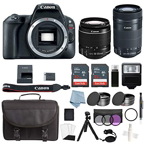 Canon EOS Rebel SL2 Bundle With Canon EF-S 18-55mm IS STM & EF-S 55-250mm IS STM Lens + Canon SL2 Camera Advanced Accessory Kit – Canon SL2 Bundle Includes EVERYTHING You Need To Get Started Review